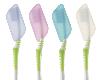 Antibacterial Silicone Toothbrush Covers, 4-Pack