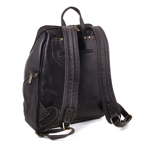 DayTrekr Colombian Leather Slim Backpack