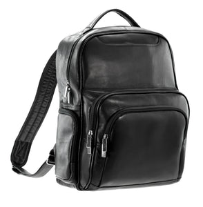 Multi-Pocket Leather Backpack by DayTrekr