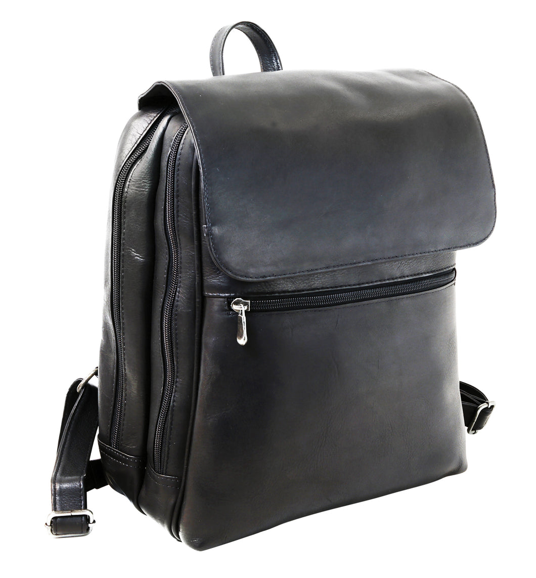 Slim Leather Backpack by DayTrekr