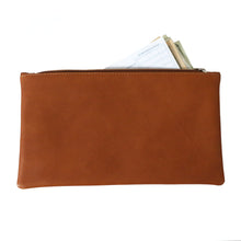Swerv Leather Zippered Pouch