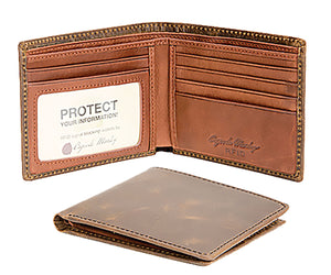 Osgoode Marley RFID-Blocking Distressed Leather Thin-fold Wallet