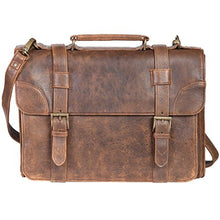 Scully Aero Squadron Vintage Leather Briefcase