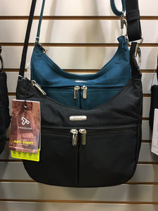 Travelon Essentials East/West Small Hobo Anti-theft Handbag