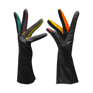 ILI Ladies Leather Gloves: Black Brights