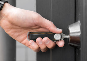 Orbitkey 2.0 Leather Key Organizer Black/Tan