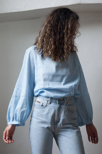 FLORENCE BLOUSE BLUE