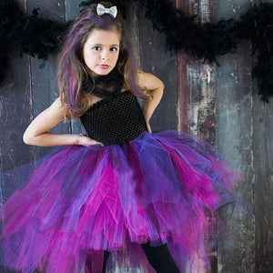 Wild Queen Children Girl Tutu Dress Halloween Girls Costume Little Witch Vampire Pirate