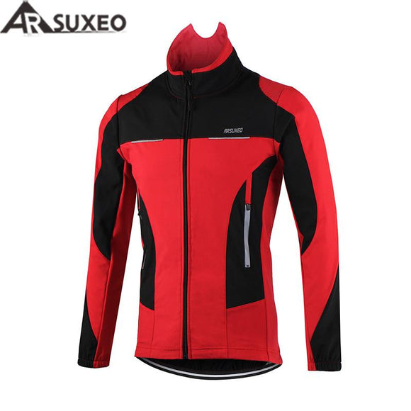 Thermal Cycling Jacket Winter Warm Up Bicycle