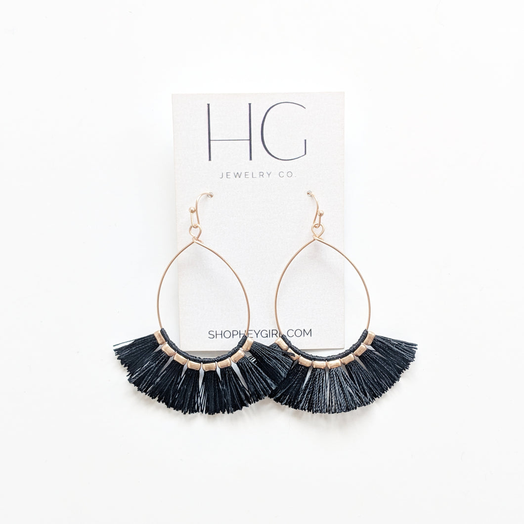 Leigh Fringe Statement Earrings (Multiple Colors)