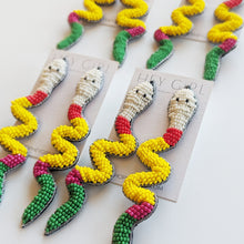 Beaded Snake Earrings