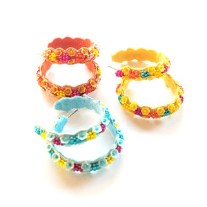 Sweet Maria Beaded Hoop Earrings