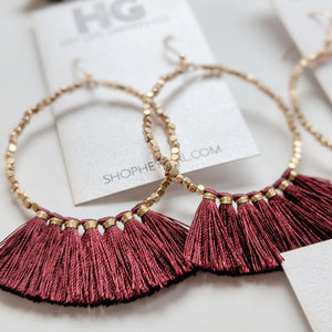Laura Fringe Statement Earrings (Multiple Colors)