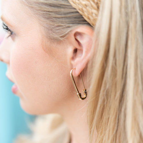 Sonia Safety Pin Earrings