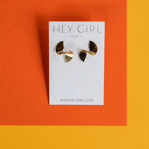 Fortune Cookie Stud Earrings