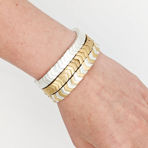 Chevron Stretchy Stack Bracelets