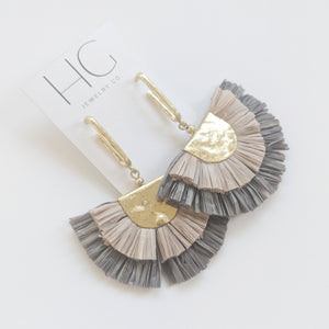 Vivi Crepe Fan Earrings