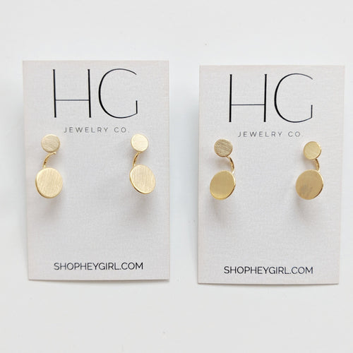 Mattie Matte Gold Ear Jackets