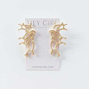 Climbing Coral Earrings