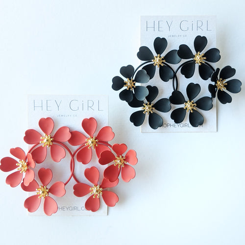 Lila Flower Earrings