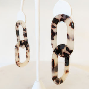 Chelsea Tortoise Chain Earrings