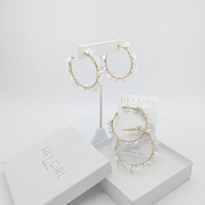 Marlo Clustered Hoop Earrings