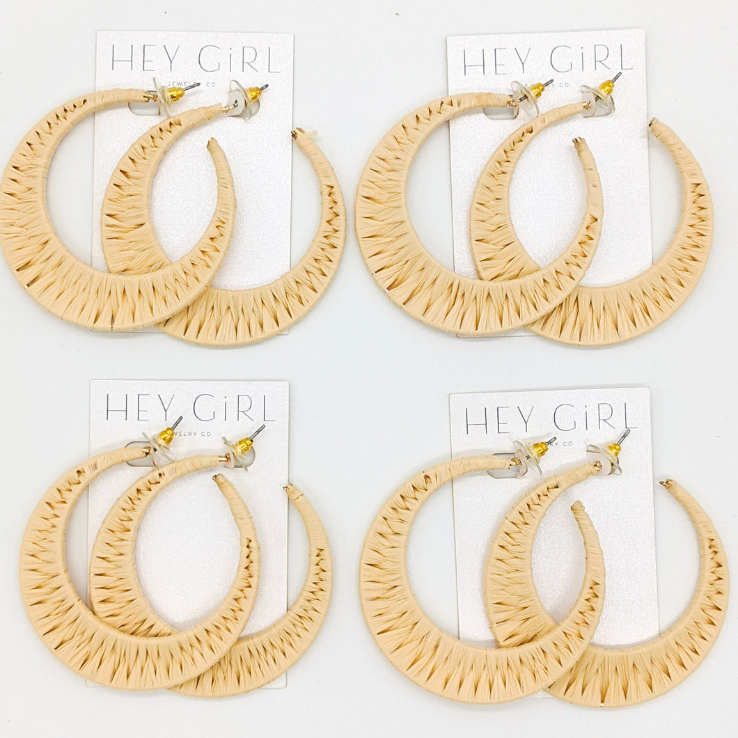 Sand Tropez Hoop Earrings