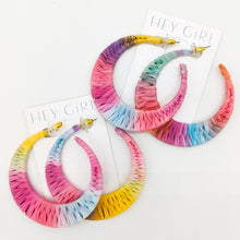 Multi Color Sand Tropez Hoop Earrings