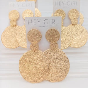 Serena Disc Statement Earrings
