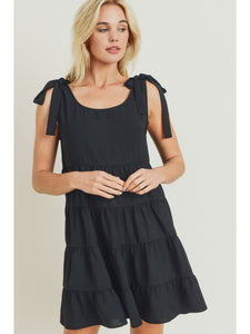 Babydoll Swing Dress in Black
