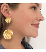 Rosa Gold Dangle Earrings