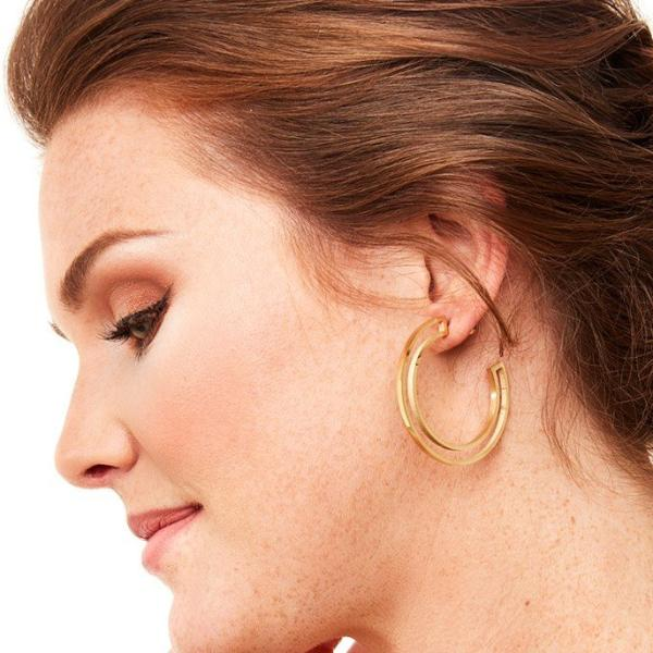 Callaway Outline Hoop Earrings