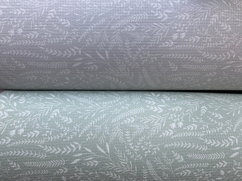 Totter and Tumble botanical cool grey Thinker and fresh sage Rambler luxury playmats for kids