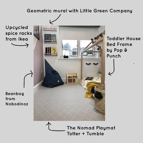 Geometric nursery Nomad Totter and tumble playmat