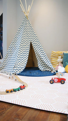 Pop and Punch Teepees Totter and Tumble Playmat