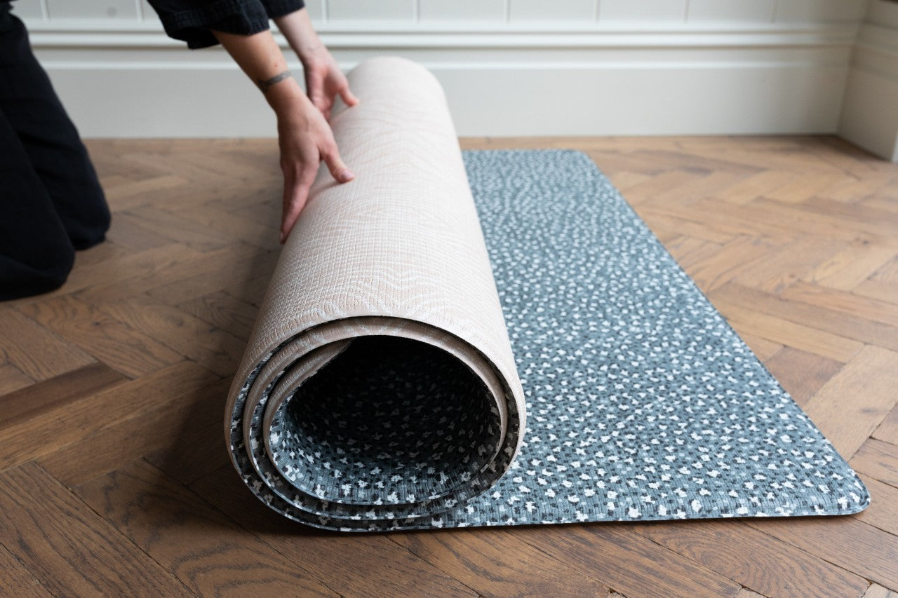 Rolling up the Totter + Tumble playmat