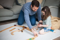 Totter and Tumble playmat Brio train track