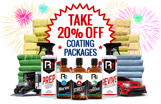 4th of July sale with 20 percent off coating packages