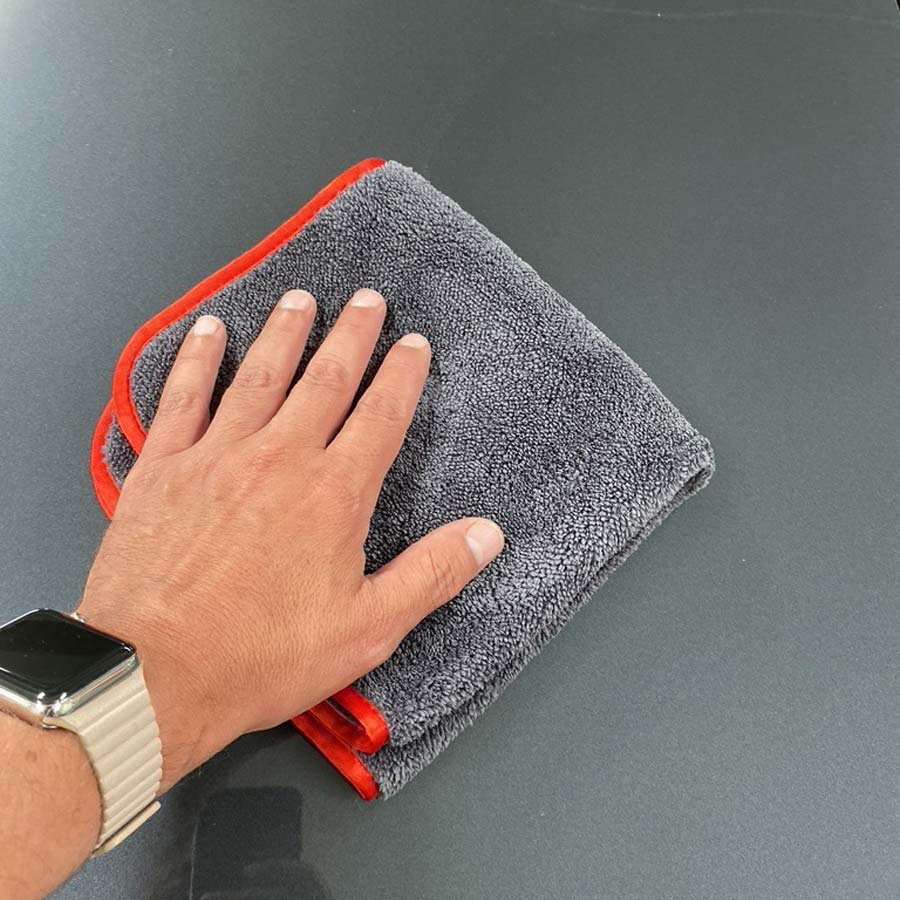 Super Plush Grey Finishing Towel (16