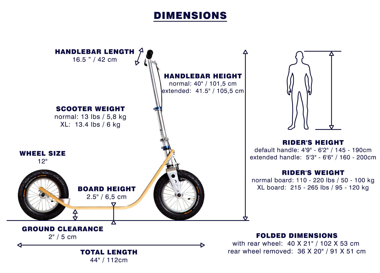Boardy adult kick scooter dimensions specifications