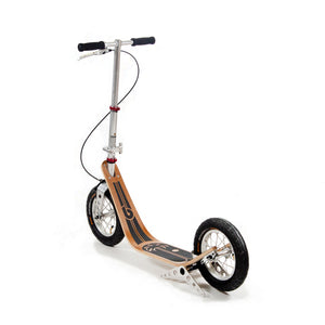 Boardy Bamboo wooden kick scooter for great ride comfort