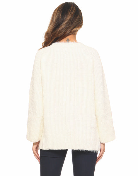 Mohair Warm And Fuzzy Sweater - White