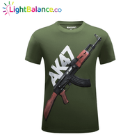 New 3D AK47 Men's Casual Cotton T-shirt