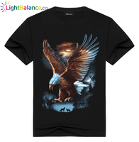 Eagle 3D Printed Casual T-Shirt