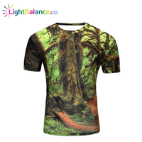 New Summer Forest Designer 3D Printed T-Shirt Men's Short Sleeve