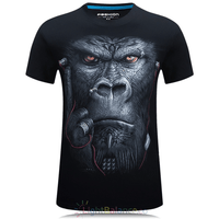 New 3D Printed Gorilla Casual T-Shirts