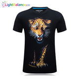 High Quality  Leopard 3D Printed T Shirt