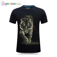 New Big Tiger Novelty Animals Printing Men T-Shirts