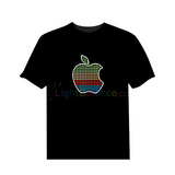 New Style Apple Design LED Flashing Cotton T-Shirt (Sound Activated)