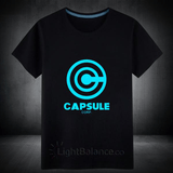 CAPSULE CORP. Letters Fluorescent T-Shirt Male - Casual Dragon Ball Z Tops